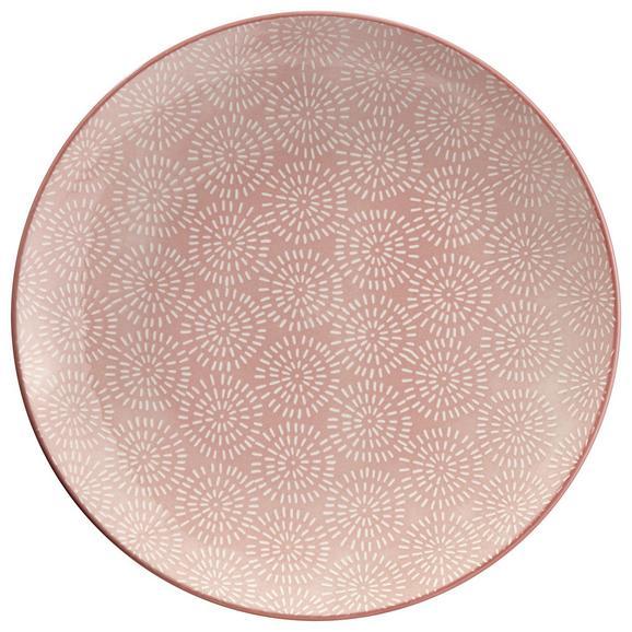Farfurie Întinsă Nina - roz, ceramică (26,5cm) - Modern Living