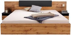 Posteljna Garnitura 180x200 Cm Landeck - hrast/grafit, Moderno, leseni material (279/93/207cm) - Mömax modern living