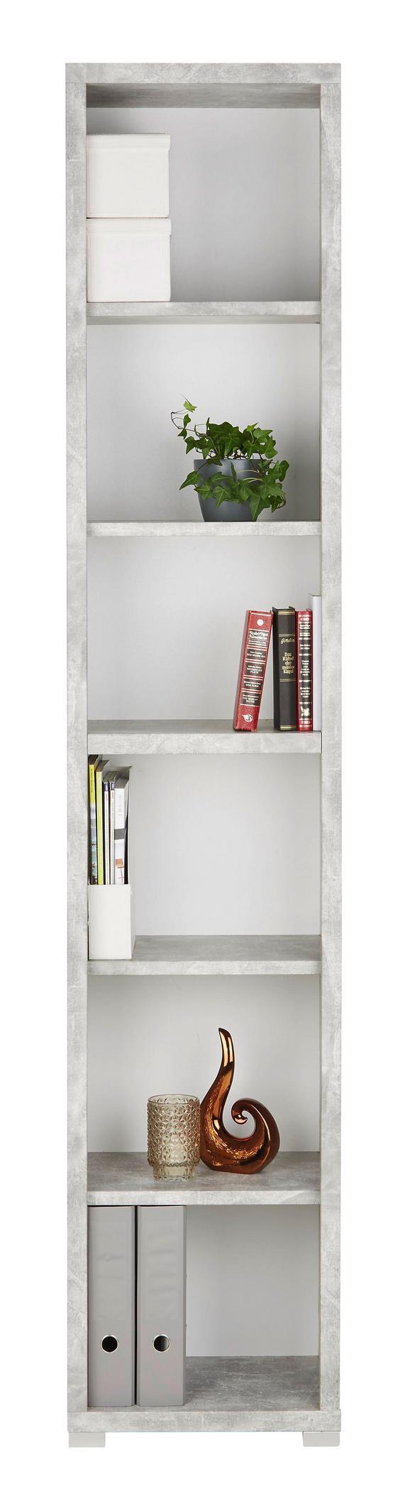 Regal in Grau/Weiß - Weiß/Grau, MODERN, Holzwerkstoff (44/218/36cm) - Mömax modern living
