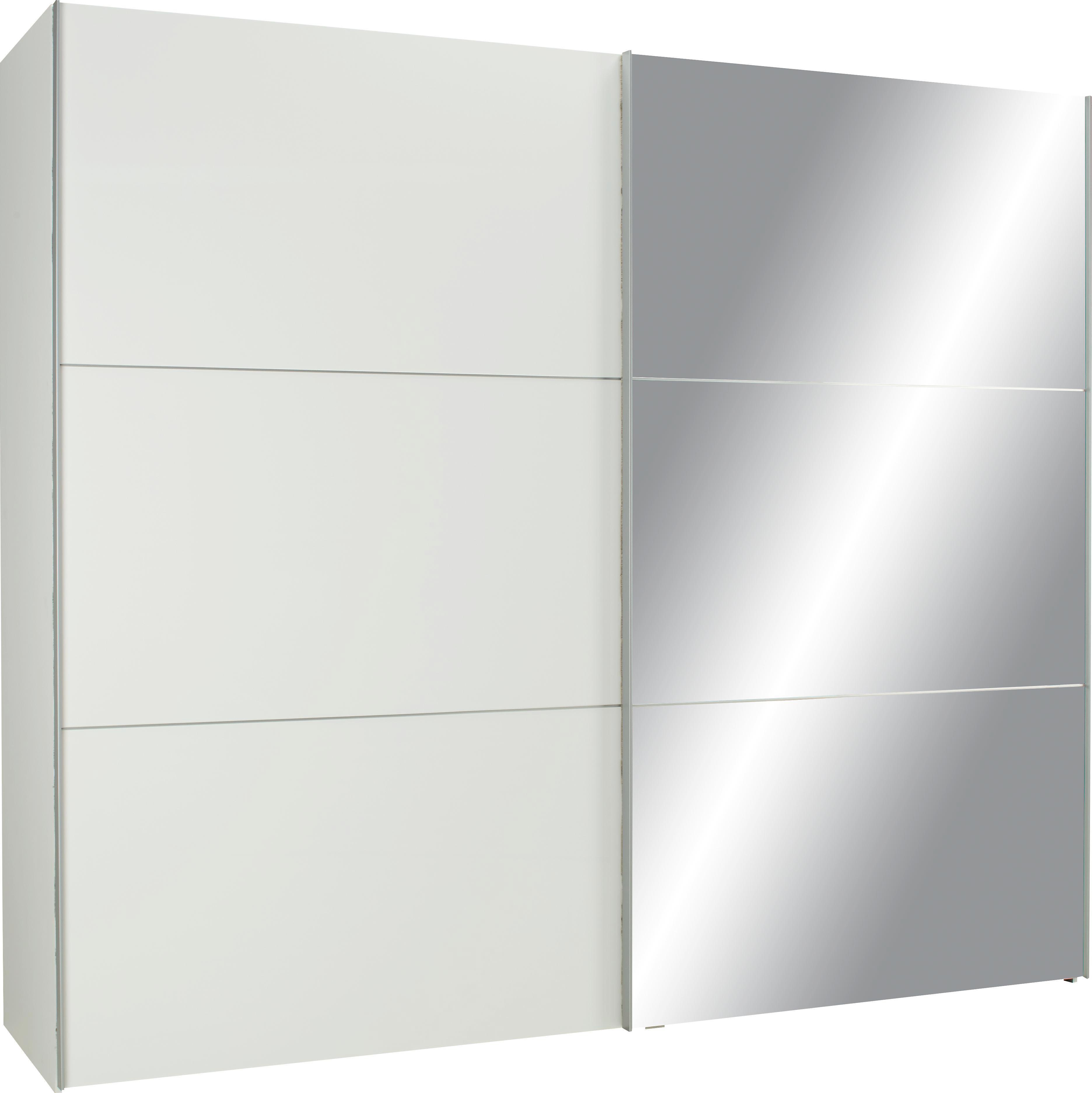 Schwebetürenschrank weiß mit spiegel  Schwebetürenschrank in Weiß/spiegel online kaufen ➤ mömax