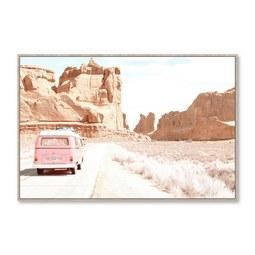 Keilrahmenbild Denise ca. 90x60cm - Pink/Terra cotta, Holzwerkstoff/Kunststoff (90/60cm) - Mömax modern living