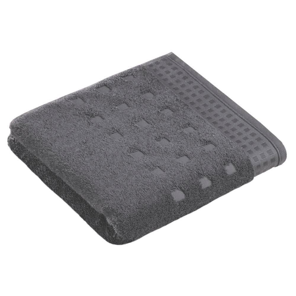 Fürdőlepedő Vossen Country Style - sötétszürke, textil (100/150cm)