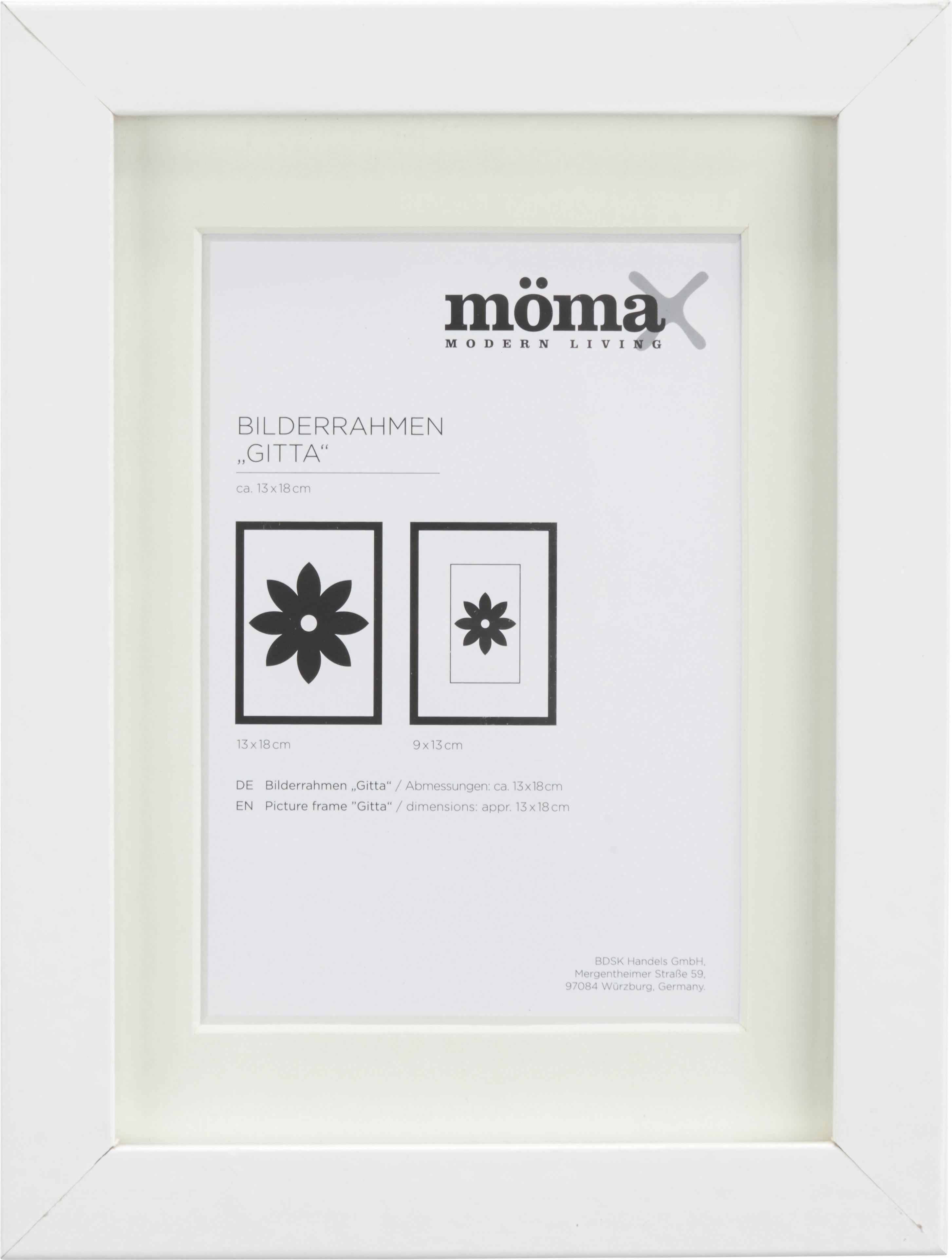 Bilderrahmen Gitta, ca. 13x18cm in Weiß online kaufen ➤ mömax