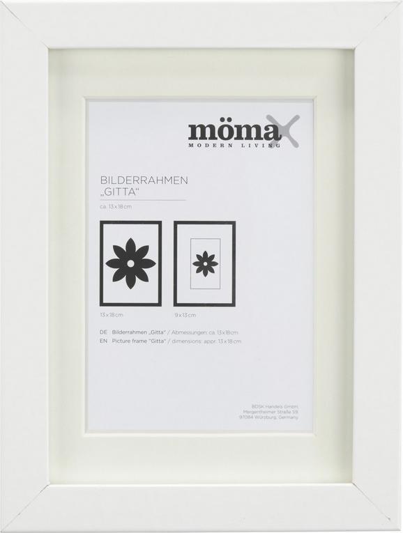 Bilderrahmen Gitta, ca. 13x18cm in Weiß - Weiß, MODERN, Glas/Holz (13/18cm) - Mömax modern living