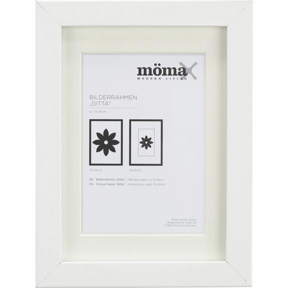 Bilderrahmen Gitta Weiß ca. 13x18cm - Weiß, MODERN, Glas/Holz (13/18cm) - Mömax modern living