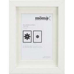 Bilderrahmen Gitta Weiß ca. 13x18cm - Weiß, MODERN, Glas/Holzwerkstoff (13/18/3,6cm) - Mömax modern living