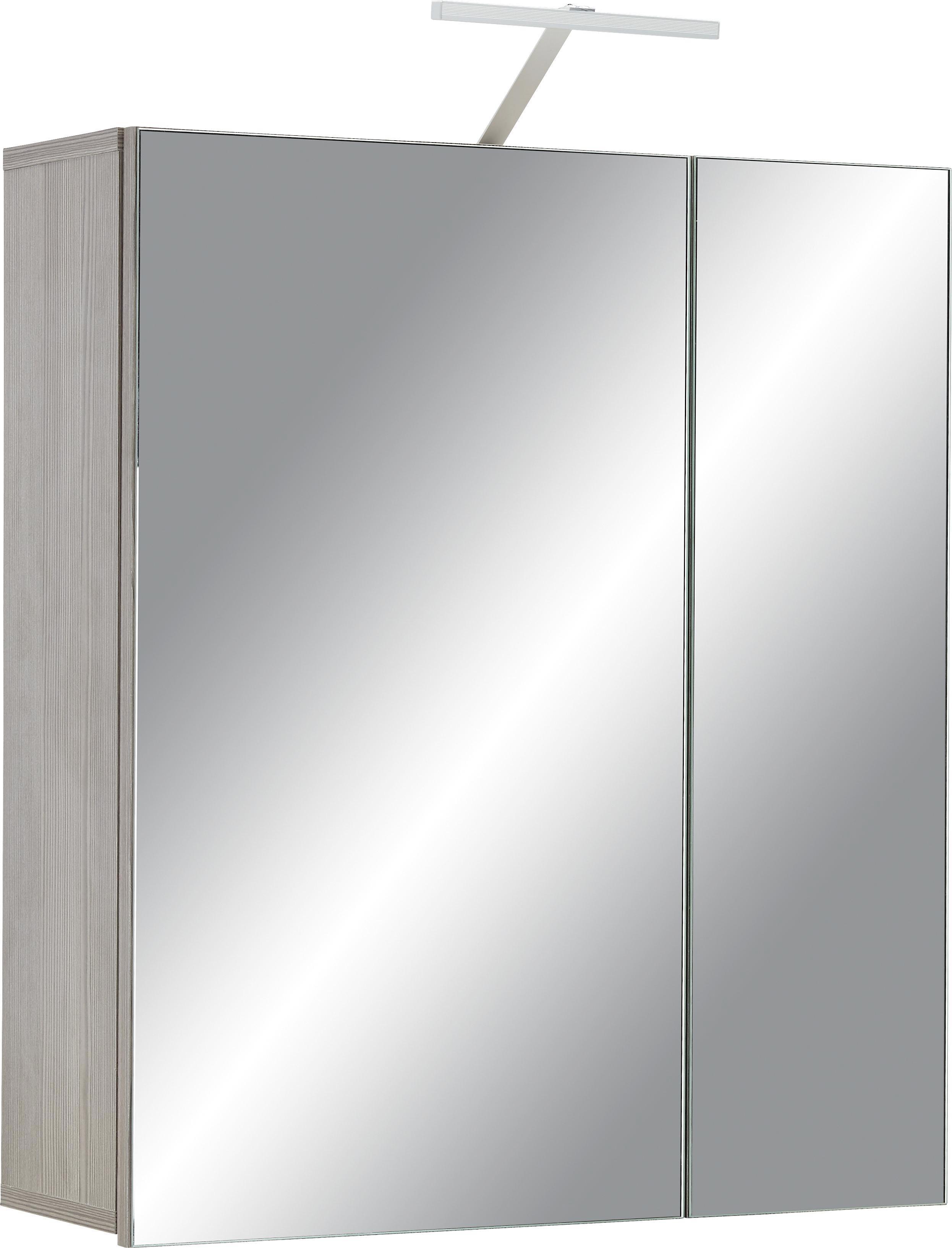 Spiegelschrank in Braun - Dunkelbraun, KONVENTIONELL, Glas/Holzwerkstoff (65/75/22cm) - PREMIUM LIVING