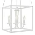 Pendelleuchte Henry 4-flammig - Weiß, MODERN, Metall (35/158cm) - Bessagi Home