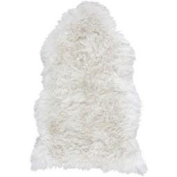 Schaffell in Weiß ca.95x60cm 'Mona' - Weiß, MODERN (95/60cm) - Bessagi Home