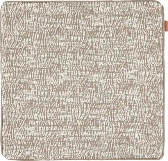 Kissenhülle Jenni in Taupe, ca. 45x45cm - Taupe, MODERN, Textil (45/45cm)