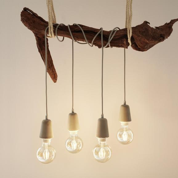 Deko Žarnica C80290mm - grafit, steklo (9,5cm) - Mömax modern living