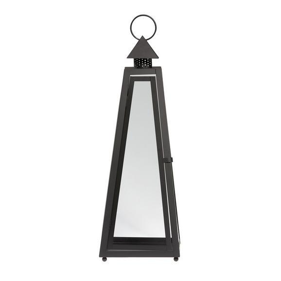 Laterne Philip Schwarz - Klar/Schwarz, Glas/Metall (26/26/73cm) - Mömax modern living