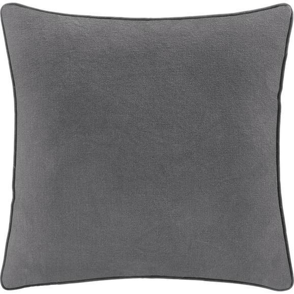 Kissen in Hellgrau 'Carolyn' ca. 45x45cm - Hellgrau, MODERN, Textil (45/45cm) - Bessagi Home