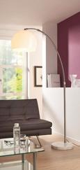Állólámpa Scarlett - Fehér/Ezüst, modern, Kő/Műanyag (38/200cm) - Mömax modern living