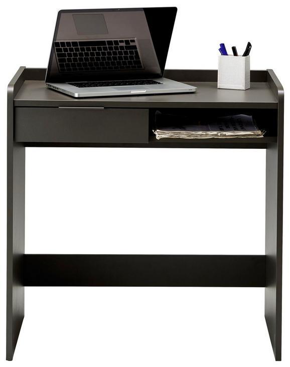 Schreibtisch Graphitfarben/Grau - Silberfarben/Graphitfarben, MODERN, Holzwerkstoff/Kunststoff (80/80/49cm) - Mömax modern living