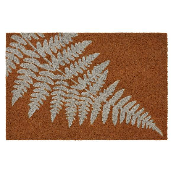 Fußmatte Leaf Braun/Weiß - Braun/Weiß, Basics, Textil (40/60cm) - Mömax modern living