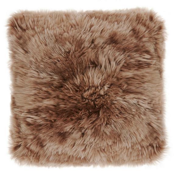 Krznena Blazina Sheep - sivo rjava/bela, Romantika, tekstil (40/40cm) - Mömax modern living