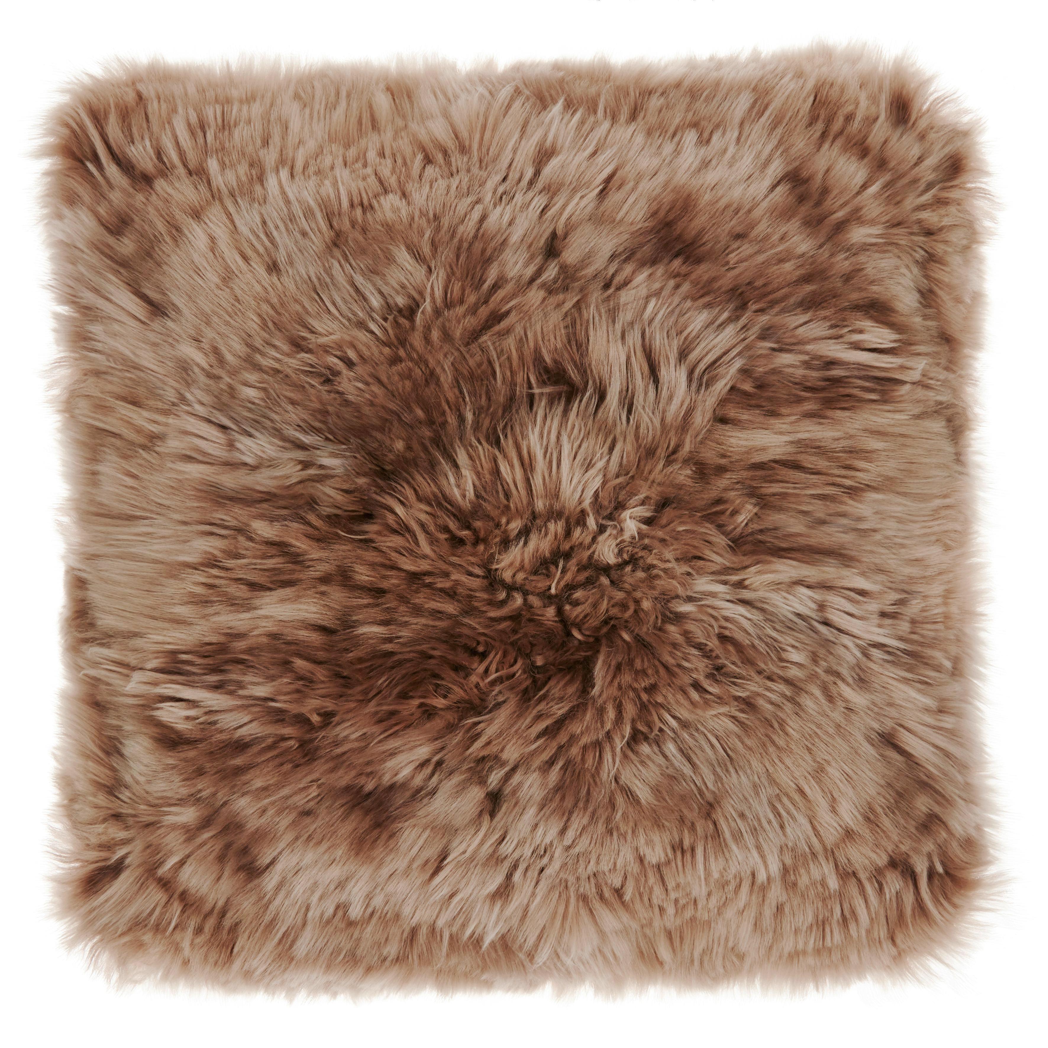 Szőrme Párna Sheep - szürkésbarna/fehér, romantikus/Landhaus, textil (40/40cm) - MÖMAX modern living