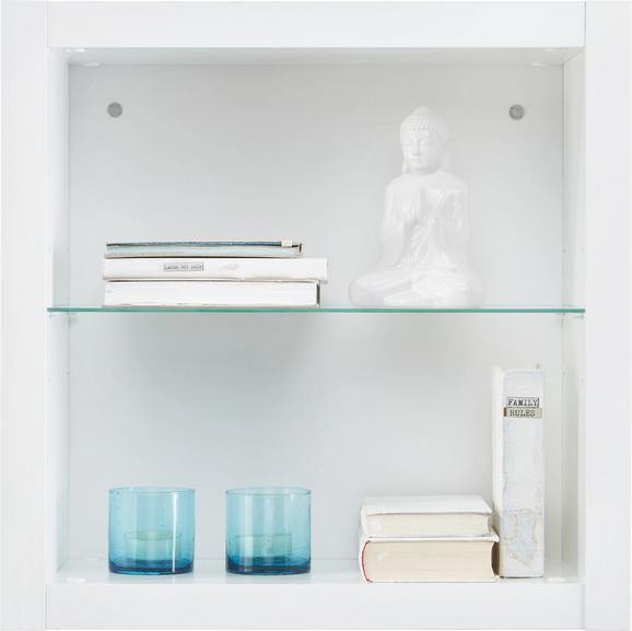 Wandregal Weiß Hochglanz - Weiß, MODERN, Glas/Holzwerkstoff (60/60/26cm) - Mömax modern living