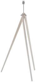 Lámpa Láb Wood - krómszínű/fehér, fa/fém (50/50/140cm) - MÖMAX modern living