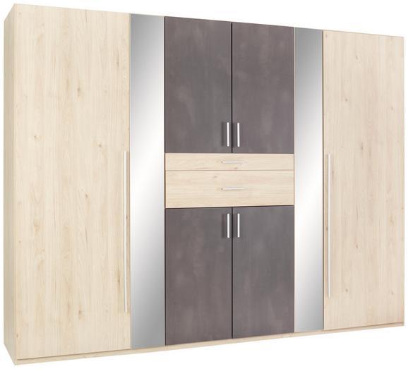 Drehtürenschrank in Eichefarben - Eichefarben/Rostfarben, KONVENTIONELL, Holzwerkstoff/Metall (270 208 58cm) - Modern Living