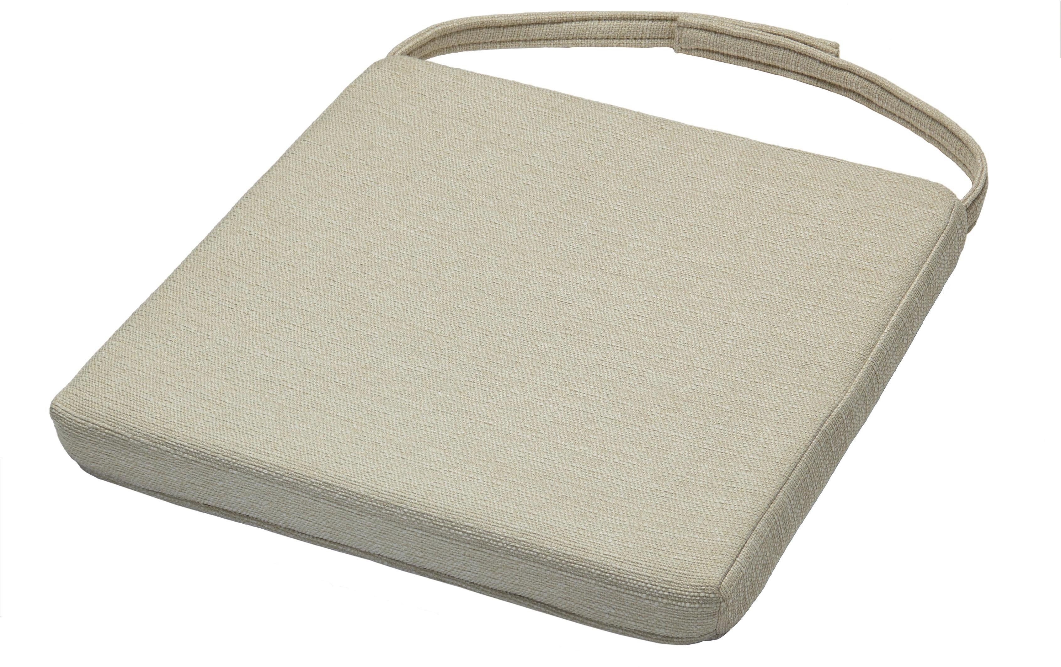 Sitzkissen in Grau, ca. 46x5x40cm - Grau, Textil (46/42/5/40cm) - ZANDIARA