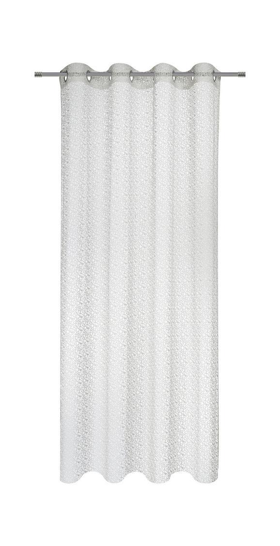 Ösenvorhang Astrid Weiß ca. 140x245cm - Weiß, MODERN, Textil (140/245cm) - Mömax modern living