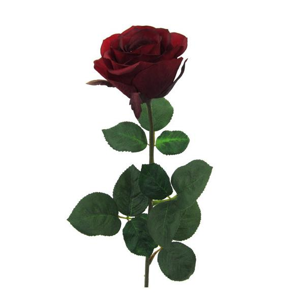 Umetna Roža Rose Ii - rdeča/zelena, umetna masa (69cm) - Mömax modern living