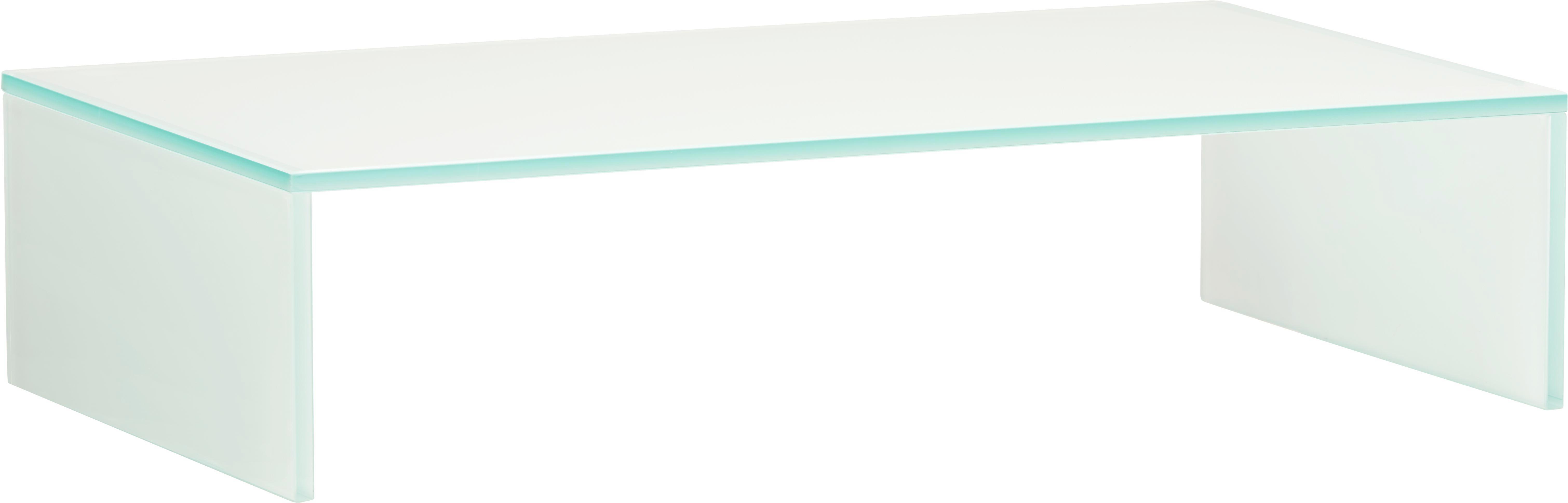 TV-Aufsatz Glas Weiß - Weiß, Glas (60/14/35cm) - MÖMAX modern living