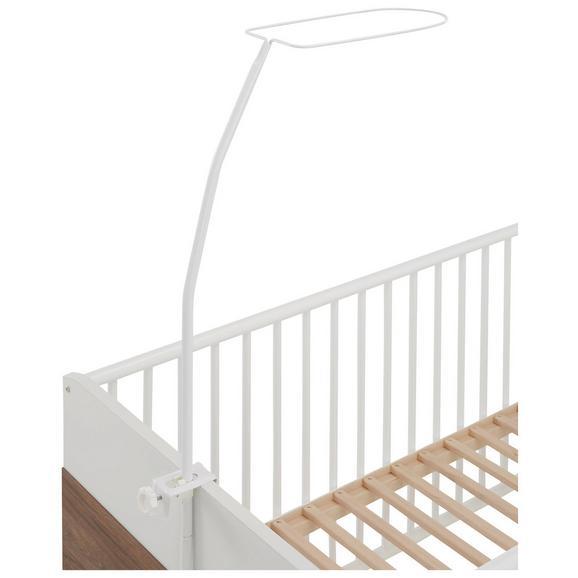 Himmelbettgestell aus Metall in Weiß ca.150cm - Weiß, Metall (8.7/2.3/1.3cm) - Modern Living