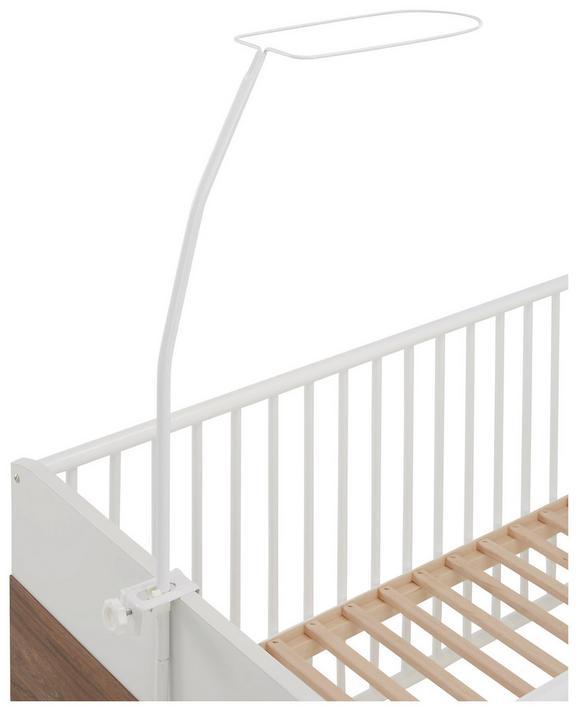 Himmelbettgestell aus Metall in Weiß - Weiß, Metall (8.7/2.3/1.3cm) - Modern Living