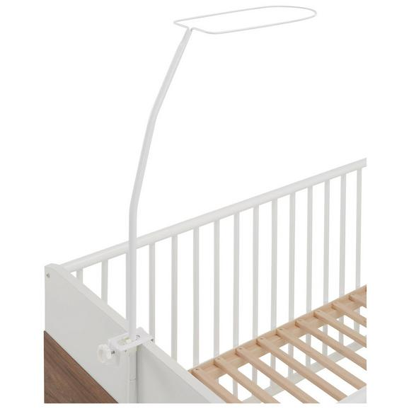 Himmelbettgestell Weiß - Weiß, Metall (8.7/2.3/1.3cm) - Modern Living
