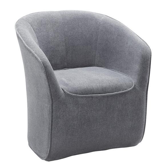 Sessel in Dunkelgrau - Dunkelgrau/Anthrazit, MODERN, Holzwerkstoff/Textil (72/77/72cm) - Mömax modern living