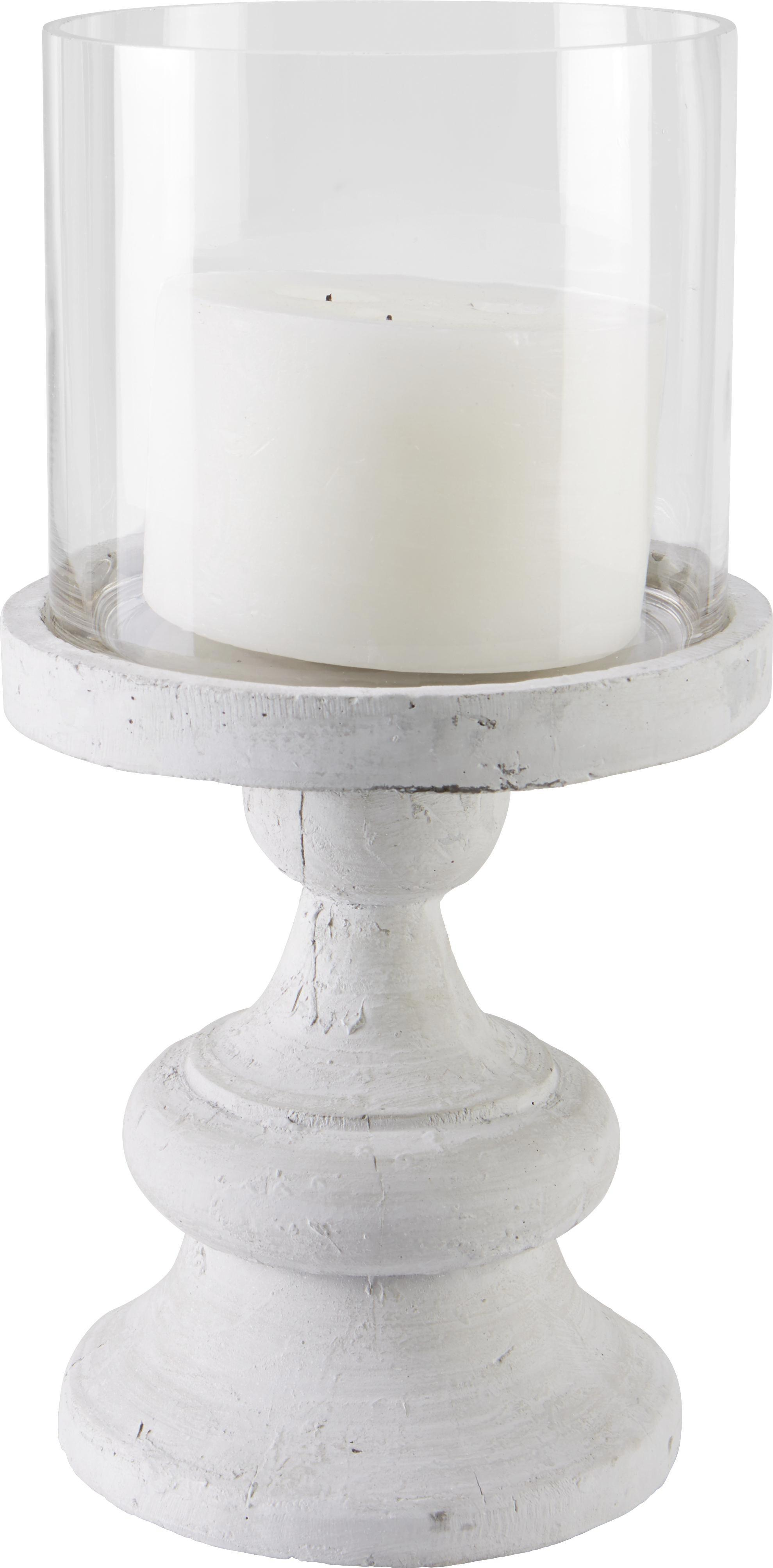 Windlicht Armira inkl. Glas - Klar/Grau, MODERN, Glas/Metall (22,50/44cm) - MÖMAX modern living