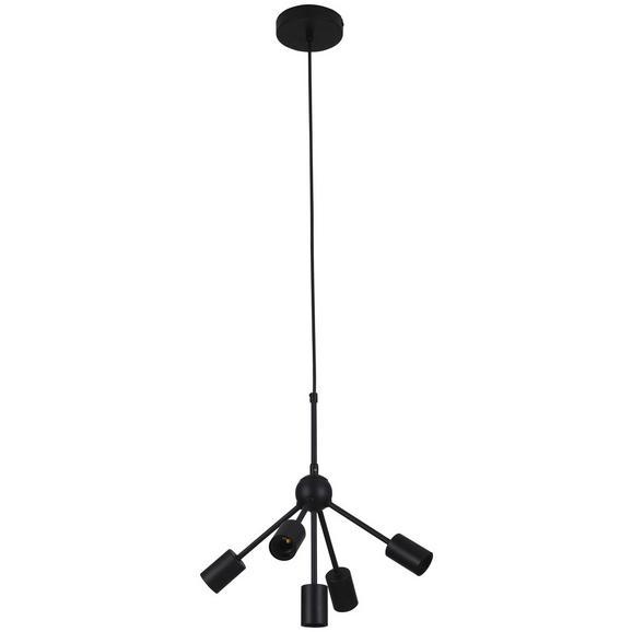 Hängeleuchte Titus max. 60 Watt - Schwarz, MODERN, Metall (38/160cm) - Modern Living