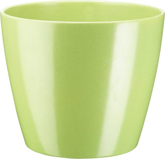 Cvetlični Lonček Luisa - siva/zelena, Moderno, keramika (22/18,5cm) - Mömax modern living