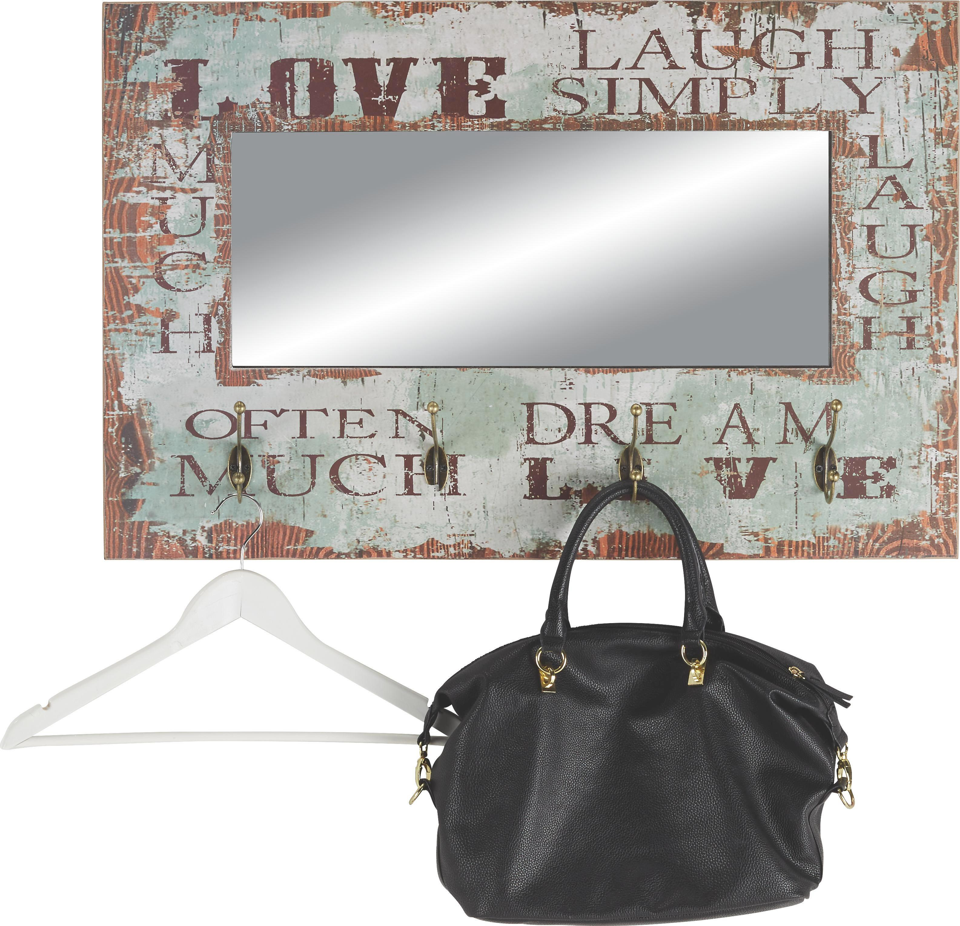 Wandspiegel ca. 80x52x10cm - Multicolor, LIFESTYLE, Holz/Metall (80/52/10cm) - MÖMAX modern living