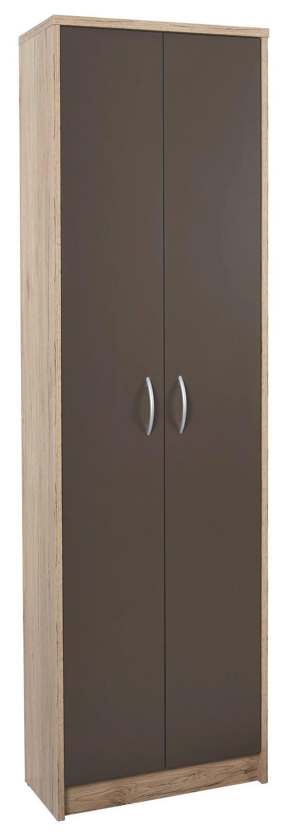 Omara Za Oblačila Iza - hrast/srebrna, Konvencionalno, umetna masa/leseni material (55/190/26cm) - Mömax modern living