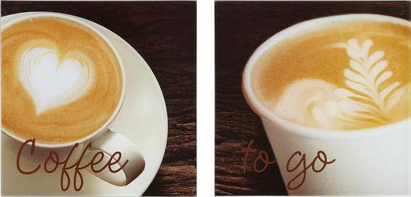 Glasbild I Like Coffee, 20x40x1,7cm - Multicolor, MODERN, Glas (20/40/1,7cm) - Mömax modern living