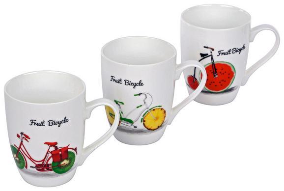 Skodelica Fruit Bicycle - večbarvno, keramika (0,34l)