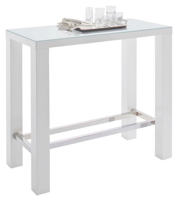 Bartisch Weiß - MODERN, Glas/Holz (120/107/60cm) - Mömax modern living