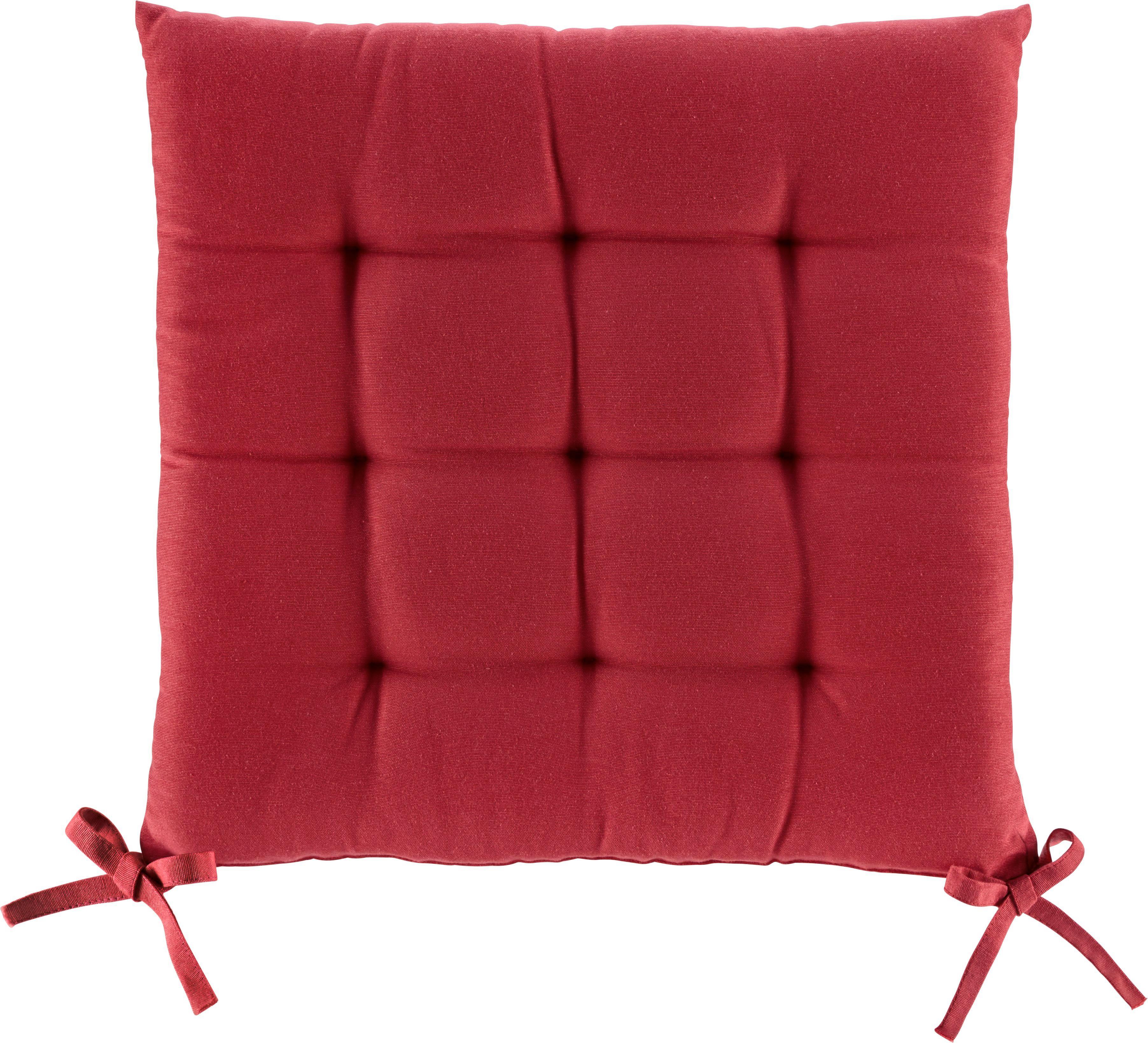 Ülőpárna Anita - piros, textil (40/40/4cm) - MÖMAX modern living