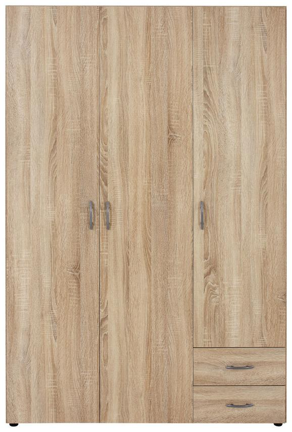 Omara Za Oblačila Base - hrast/srebrna, umetna masa/leseni material (120/177/52cm) - Mömax modern living
