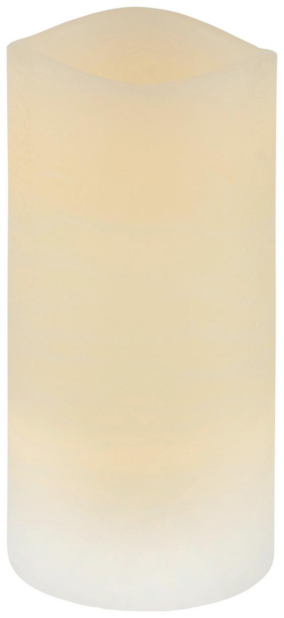 Kerze mit Led Leonie Creme - Creme (7,5/14cm) - Mömax modern living