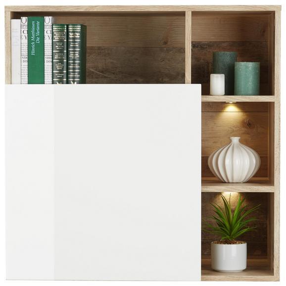 Hängeelement individuell drehbar - Eichefarben/Weiß, MODERN, Holzwerkstoff (73/73/38cm) - Modern Living