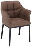 Stuhl in Schwarz/hellbraun - Hellbraun/Schwarz, MODERN, Holz/Textil (63/85/57cm) - Mömax modern living