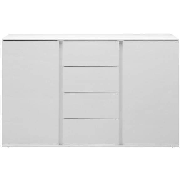 Sideboard in Weiß - Weiß/Grau, MODERN, Holzwerkstoff/Kunststoff (150/95/43cm) - Modern Living