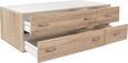 Predal Base 3 - aluminij/hrast sonoma, Konvencionalno, umetna masa/leseni material (120/33/52cm) - Mömax modern living