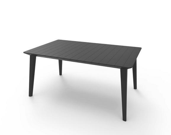 Gartentisch Lima - Graphitfarben, MODERN, Kunststoff (157/98/74cm) - ALLIBERT