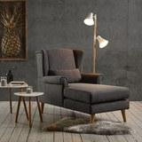Fernsehsessel Otto - Dunkelgrau, MODERN, Holz/Textil (104/111/153cm) - Mömax modern living